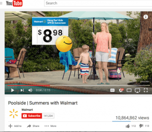 12 million plus Views Walmart Commercial