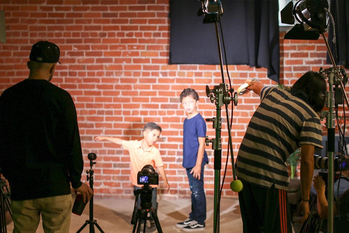CGTV on set